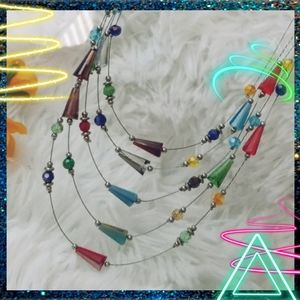 MIC Carnival Bead Necklace & Earring set